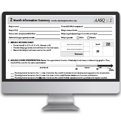 ASQ:SE-2 image on a computer screen