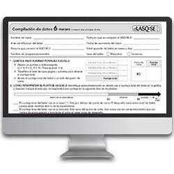 ASQ:SE-2 Spanish on a computer screen